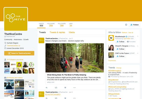 1COMMUNITY1 - The Hive Twitter Profile Design