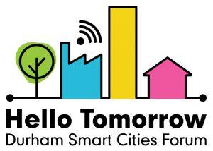 Hello Tomorrow: Durham Smart Cities Forum Logo